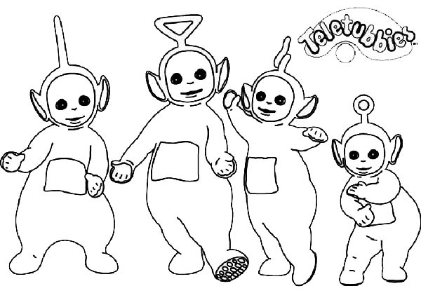 Teletubbies, : The Teletubbies The Movie Coloring Page