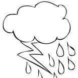 Lightning Bolt, Thunder And Lighting Bolt Coloring Page: Thunder and Lighting Bolt Coloring Page