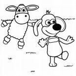 Shaun the Sheep, Timmy Wander Around In Shaun The Sheep Coloring Page: Timmy Wander Around in Shaun the Sheep Coloring Page