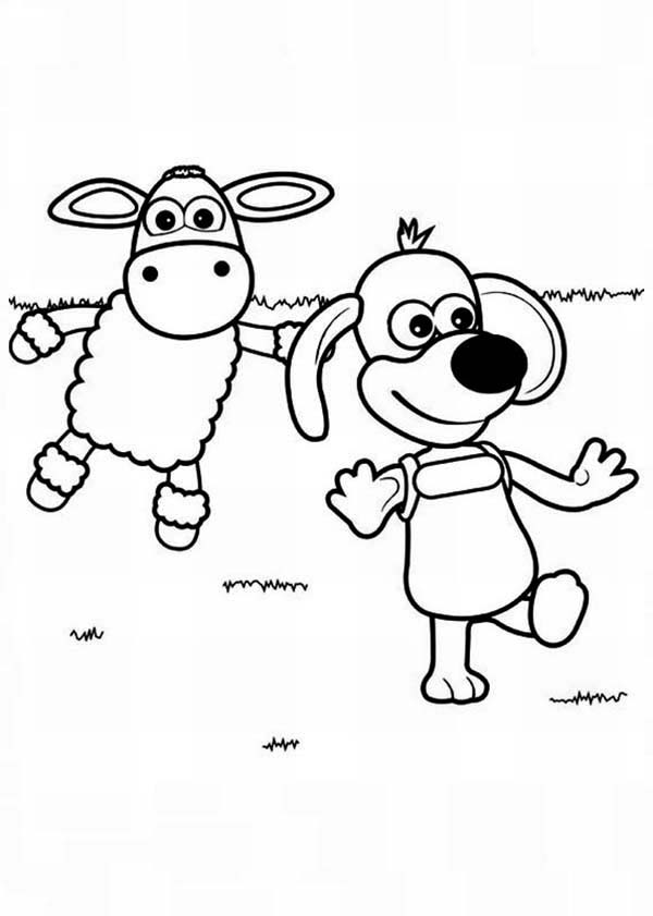 Shaun the Sheep, : Timmy Wander Around in Shaun the Sheep Coloring Page