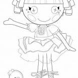 Lalaloopsy, Tippy Tumblelina From Lalaloopsy Coloring Page: Tippy Tumblelina from Lalaloopsy Coloring Page