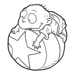 Rugrats, Tommy Pickles From Rugrats Coloring Page: Tommy Pickles from Rugrats Coloring Page