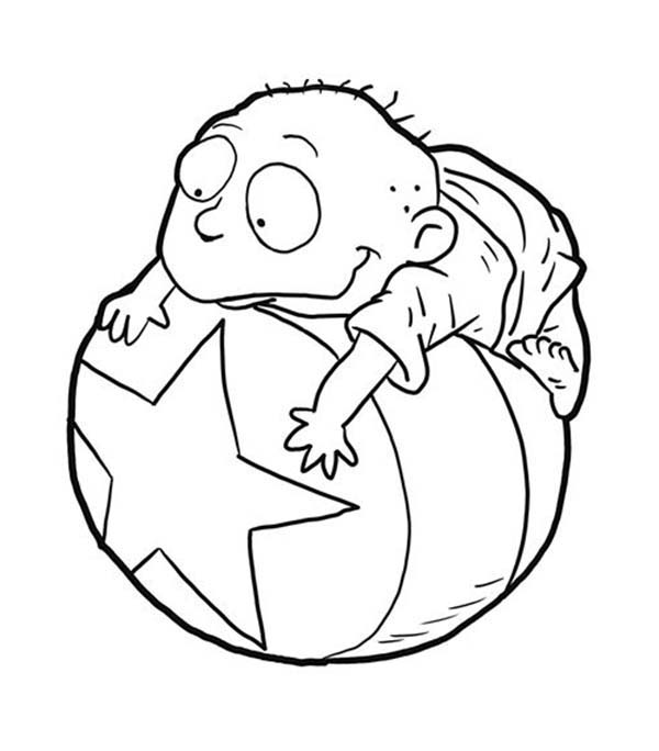 Rugrats, : Tommy Pickles from Rugrats Coloring Page