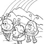 Rainbow Brite, Twink Romeo And OJ In Rainbow Brite Coloring Page: Twink Romeo and OJ in Rainbow Brite Coloring Page