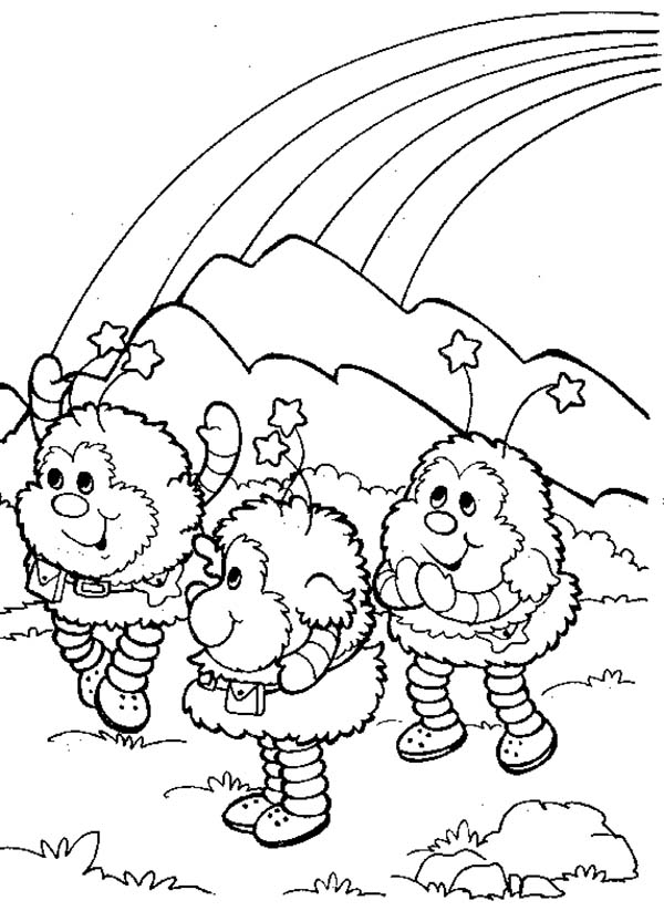 Rainbow Brite, : Twink Romeo and OJ in Rainbow Brite Coloring Page