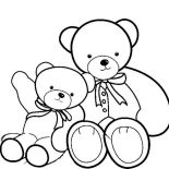 Teddy Bear, Two Beautiful Teddy Bear Coloring Page: Two Beautiful Teddy Bear Coloring Page