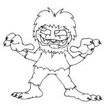 Monsters, Vicious Monster Coloring Page: Vicious Monster Coloring Page