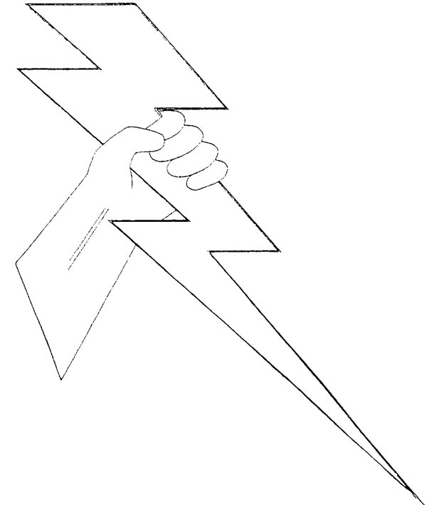 Lightning Bolt, : Zeus Lighting Bolt Coloring Page