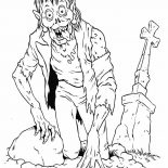 Monsters, Zombie Apocalypse Monster Coloring Page: Zombie Apocalypse Monster Coloring Page