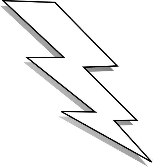 Lightning Bolt, : Black and White Lightning Bolt