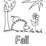 Autumn, Autumn Season Picture Coloring Page: Autumn Season Picture Coloring Page