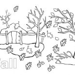 Autumn, Autumn Season In My Country Coloring Page: Autumn Season in My Country Coloring Page