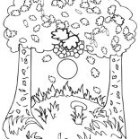 Autumn, Autumn Trees Coloring Page: Autumn Trees Coloring Page