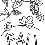 Autumn, Fall Leaves In Autumn Season Coloring Page: Fall Leaves in Autumn Season Coloring Page