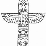 Native American Day, Native American Totem From Thuja Plicata On Native American Day Coloring Page: Native American Totem from Thuja Plicata on Native American Day Coloring Page