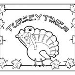 Canada Thanksgiving Day, Canada Thanksgiving Day Means Its Turkey Time Coloring Page: Canada Thanksgiving Day Means Its Turkey Time Coloring Page