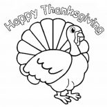 Canada Thanksgiving Day, Canada Thanksgiving Day Turkey Says Joyful Thanksgiving To All Coloring Page: Canada Thanksgiving Day Turkey Says Joyful Thanksgiving to All Coloring Page