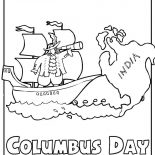 Columbus Day, Columbus Day Celebration Coloring Page: Columbus Day Celebration Coloring Page