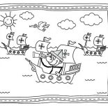 Columbus Day, Columbus Day Parade Coloring Page: Columbus Day Parade Coloring Page