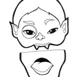 Halloween Day, Count Dracula Mask For Halloween Day Coloring Page: Count Dracula Mask for Halloween Day Coloring Page