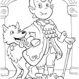 Halloween Day, Elegant Count Dracula And Funny Werewolf On Halloween Day Coloring Page: Elegant Count Dracula and Funny Werewolf on Halloween Day Coloring Page