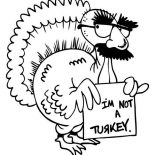 Canada Thanksgiving Day, Hilarious Canada Thanksgiving Day Turkey Make Jokes Coloring Page: Hilarious Canada Thanksgiving Day Turkey Make Jokes Coloring Page