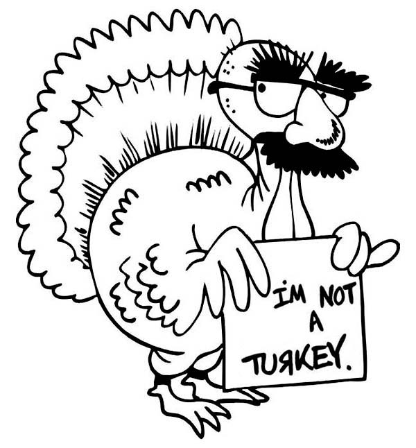 Canada Thanksgiving Day, : Hilarious Canada Thanksgiving Day Turkey Make Jokes Coloring Page