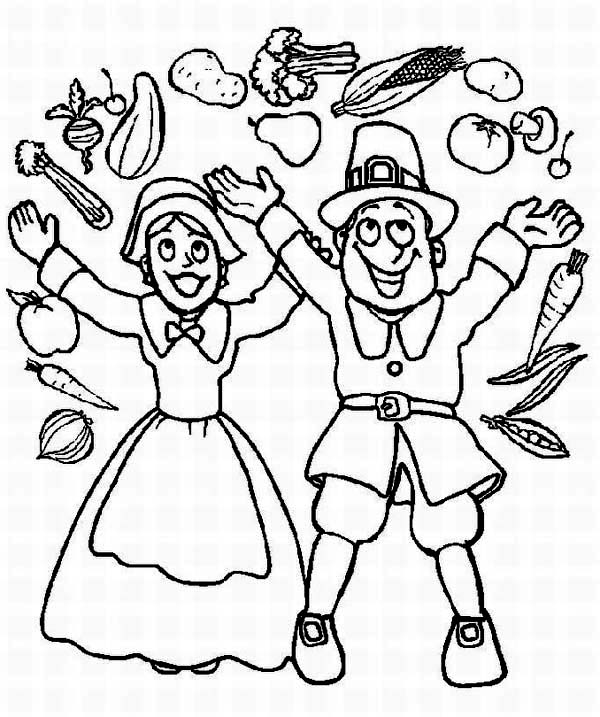Canada Thanksgiving Day, : Joyful Canada Thanksgiving Day Parade Coloring Page