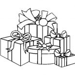 Christmas, A Packed Of Christmas Presents On Christmas Coloring Page: A Packed of Christmas Presents on Christmas Coloring Page