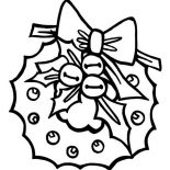 Christmas, An Awesome Christmas Wreath In Graphic On Christmas Coloring Page: An Awesome Christmas Wreath in Graphic on Christmas Coloring Page