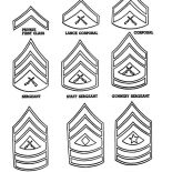 Veterans Day, Celebrating Veterans Day With Enlisted Men Badges Coloring Page: Celebrating Veterans Day with Enlisted Men Badges Coloring Page