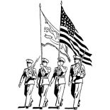 Veterans Day, Celebrating Veterans Day With Officers March Parade Coloring Page: Celebrating Veterans Day with Officers March Parade Coloring Page