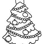 Christmas, Christmas Tree Hanging Ornament On Christmas Coloring Page: Christmas Tree Hanging Ornament on Christmas Coloring Page