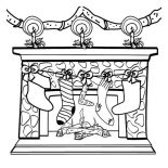 Christmas, Four Christmas Stocking On The Fireplace On Christmas Coloring Page: Collection of thousands of Coloring Page from all over the world.