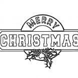 Christmas, Gorgeous Christmas Sign Board On Christmas Coloring Page: Gorgeous Christmas Sign Board on Christmas Coloring Page
