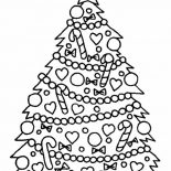 Christmas, Gorgeous Christmas Tree On Christmas Coloring Page: Gorgeous Christmas Tree on Christmas Coloring Page