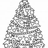 Christmas, Gorgeous Christmas Tree On Christmas Coloring Page: Gorgeous Christmas Tree on Christmas Coloring Page