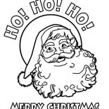 Christmas, Ho Ho Ho And Joyful Happy Merry Christmas From Santa Claus On Christmas Coloring Page: Ho Ho Ho and Joyful Happy Merry Christmas from Santa Claus on Christmas Coloring Page