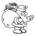 Christmas, Santa Clauss With A Fat Christmas Sacks For Good Childrens On Christmas Coloring Page: Santa Clauss with a Fat Christmas Sacks for Good Childrens on Christmas Coloring Page