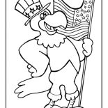 Veterans Day, The Eagle Holding US Flag Celebrating Veterans Day Coloring Page: The Eagle Holding US Flag Celebrating Veterans Day Coloring Page
