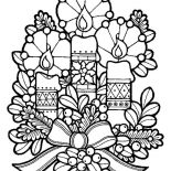 Christmas, Three Lovely Candles For Christmas Eve On Christmas Coloring Page: Three Lovely Candles for Christmas Eve on Christmas Coloring Page
