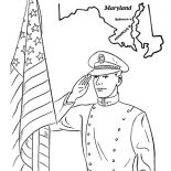 Veterans Day, US Naval Academy In Maryland Celebrating Veterans Day Coloring Page: US Naval Academy in Maryland Celebrating Veterans Day Coloring Page