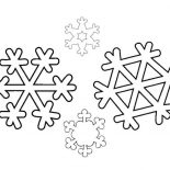 Winter, An Identical Winter Season Snowflakes Coloring Page: An Identical Winter Season Snowflakes Coloring Page