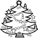Christmas Trees, Awesome Christmas Trees Decorated With Candles Coloring Pages: Awesome Christmas Trees Decorated with Candles Coloring Pages