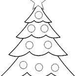Christmas Trees, Christmas Trees Covered With Baubles Coloring Pages: Christmas Trees Covered with Baubles Coloring Pages