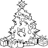 Christmas Trees, Christmas Trees Decorated With Lamp Coloring Pages: Christmas Trees Decorated with Lamp Coloring Pages