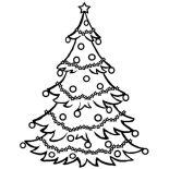 Christmas Trees, Christmas Trees Glow On Holy Night Coloring Pages: Christmas Trees Glow on Holy Night Coloring Pages