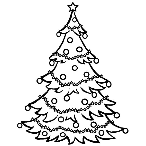 Christmas Trees, : Christmas Trees Glow on Holy Night Coloring Pages