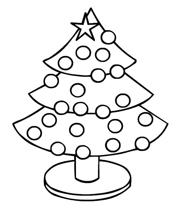 Christmas Trees, : Christmas Trees Image Coloring Pages