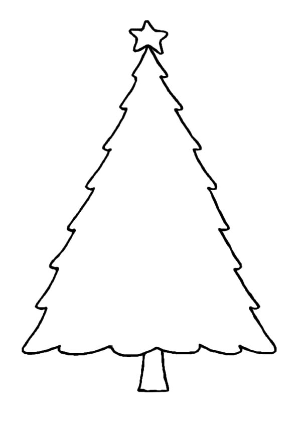 Christmas Trees, : Christmas Trees Outline Coloring Pages